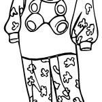 Pajamas For A Girl Coloring Page | Free Printable Coloring Pages   Free Printable Pajama Coloring Pages