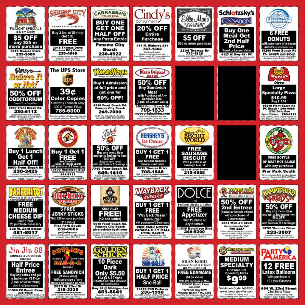 Panama City Community Calendar :: Events, Coupons, Deals, And Fun - Free Printable Coupons For Panama City Beach Florida