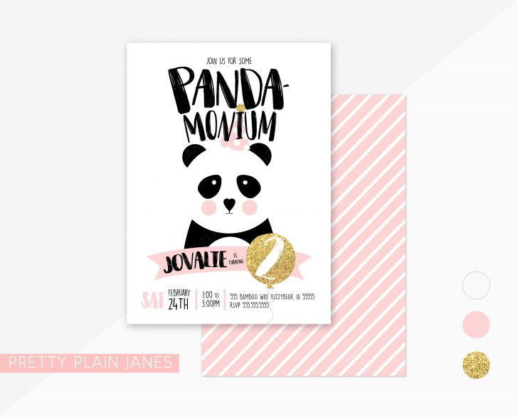 Panda Bear Invitations Free Printable
