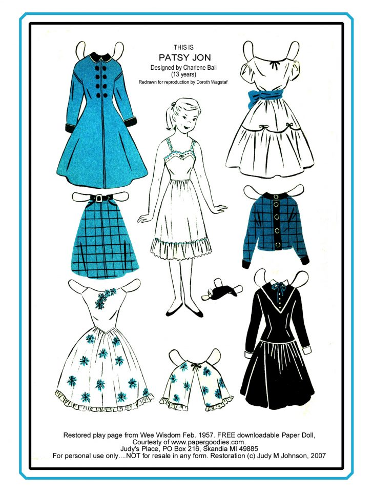 Free Printable Paper Dolls From Around The World