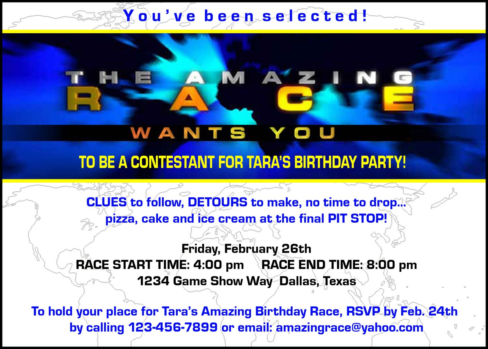 """Paper Perfection: Free """"amazing Race"""" Birthday Party Invitation - Blue's Clues Invitations Free Printable"""