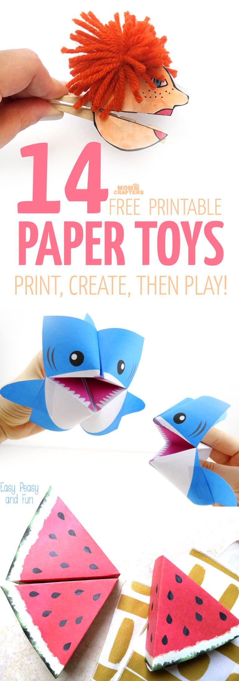 Paper Toy Templates - 14 Free Printables To Craft And Play! | Papier - Free Printable Paper Crafts