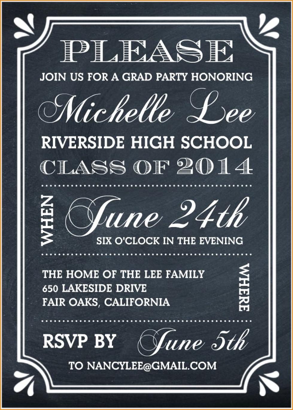 Party Invitations: Elegant Free Graduation Party Invitations Designs - Free Printable Graduation Party Invitations 2014