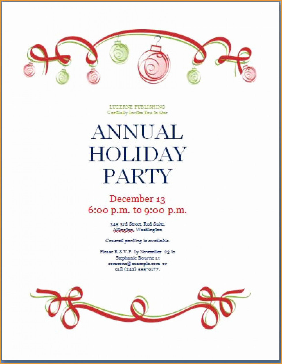 Party Invitations: Incredible Holiday Party Invitations Templates - Free Printable Christmas Party Invitations