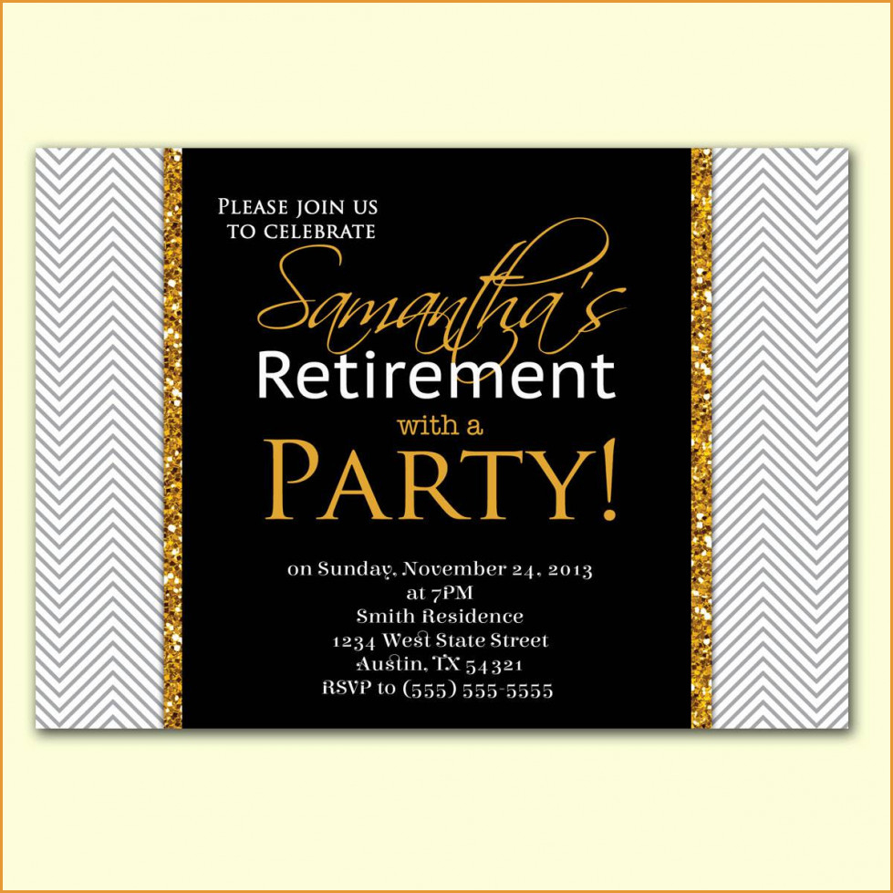 Party Invitations: Retirement Party Invitations Free Printable - Free Printable Retirement Party Flyers
