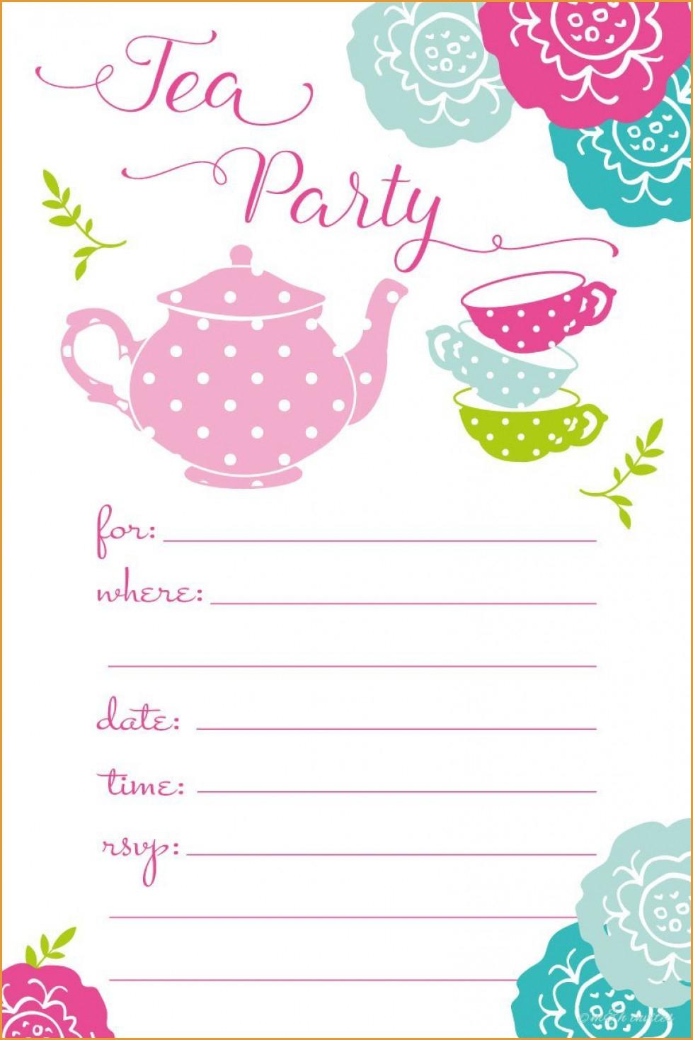 Party Invitations: Tea Party Invitations Tea Party Birthday - Free Printable Polka Dot Birthday Party Invitations