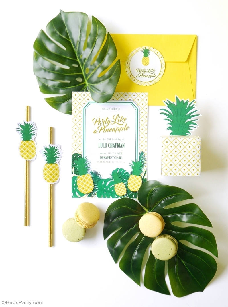 Party Like A Pineapple   A Tropical 25Th Birthday Party - Party - Free Printable Pineapple Invitations