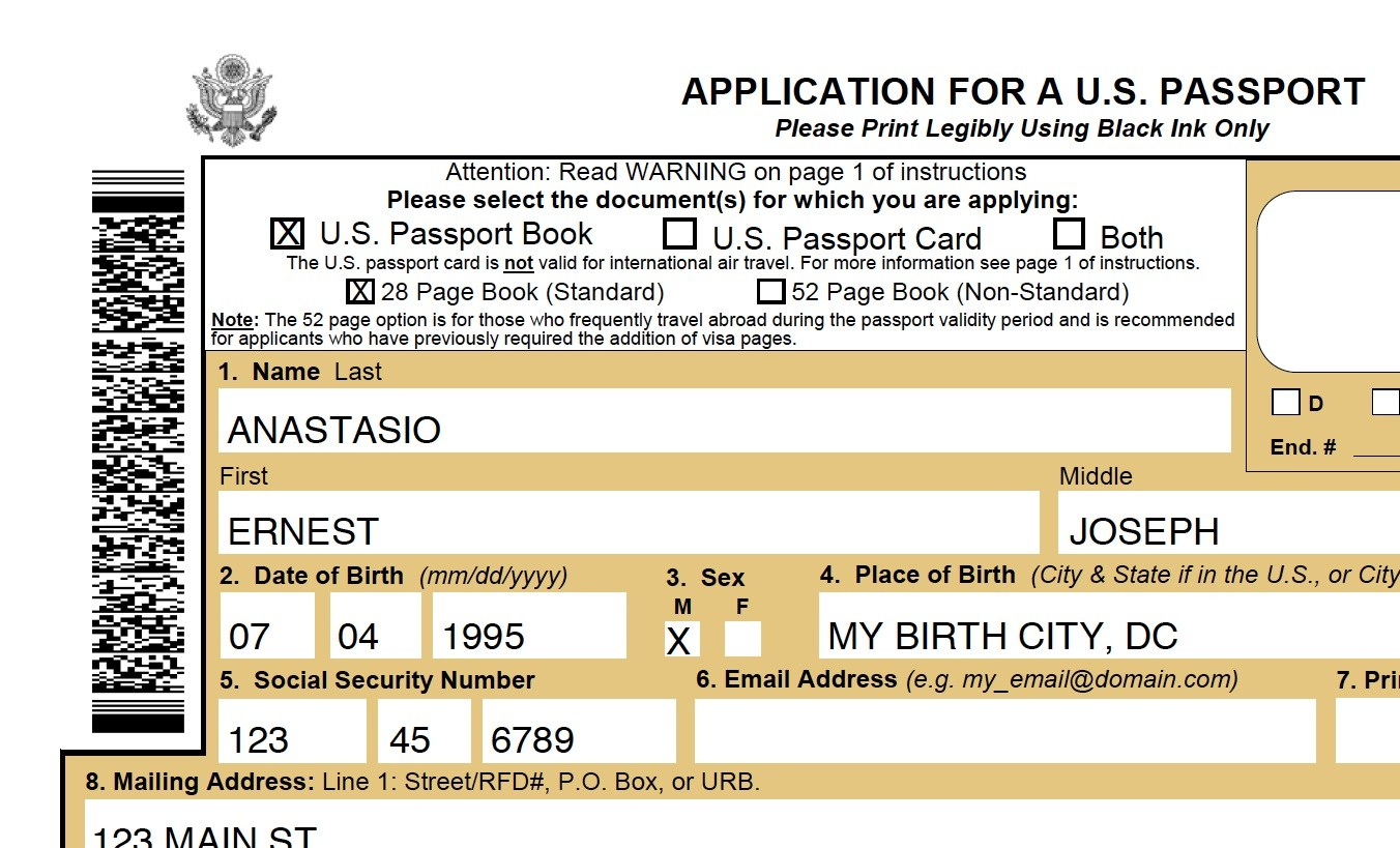 Passport Application Form Ds-11 – Printable Passport Form Best Of - Free Printable Ds 11