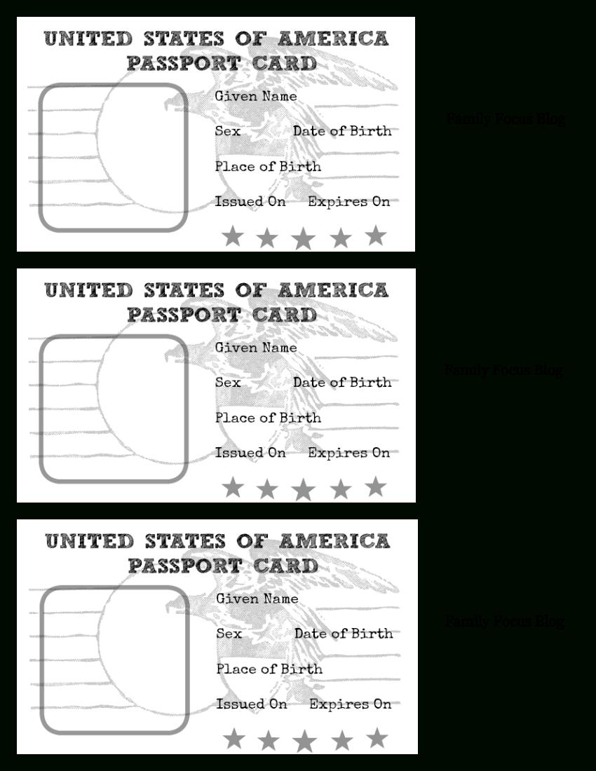 Passport Craft: Fun World Geography For Kids With Free Printable - Free Printable Passport Template