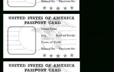Free Printable Passport Template