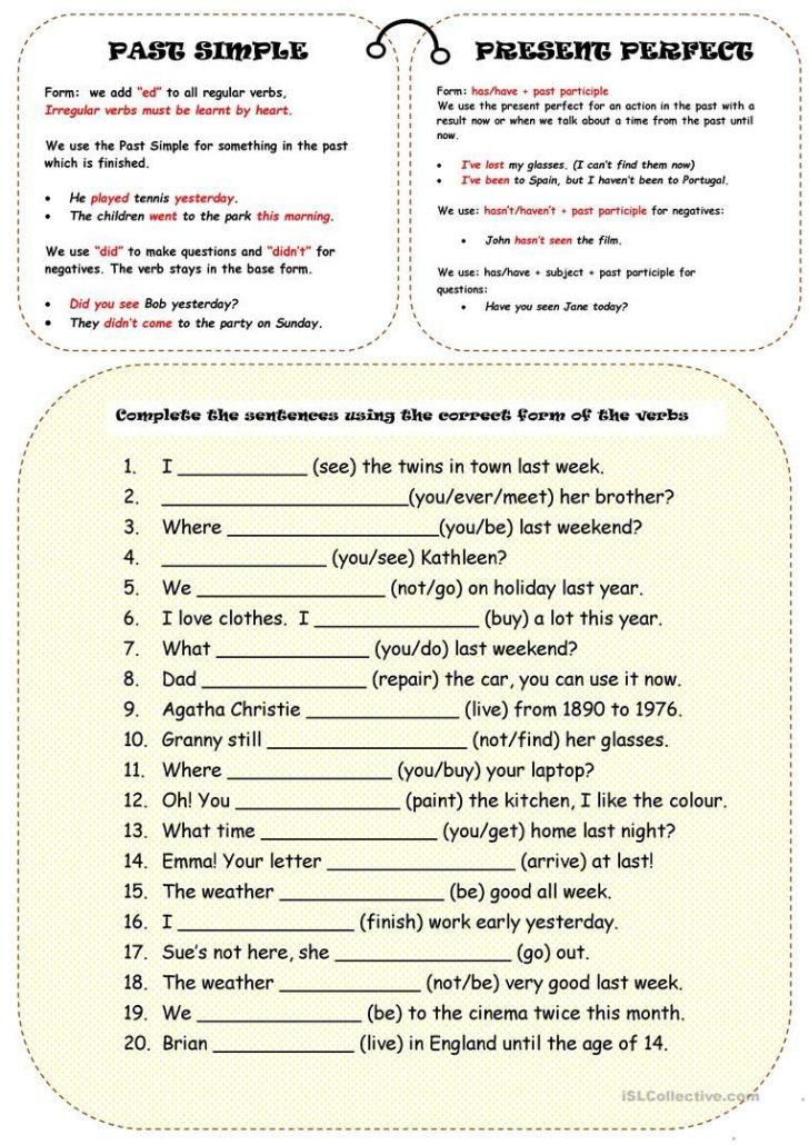 Free Printable Esl Grammar Worksheets