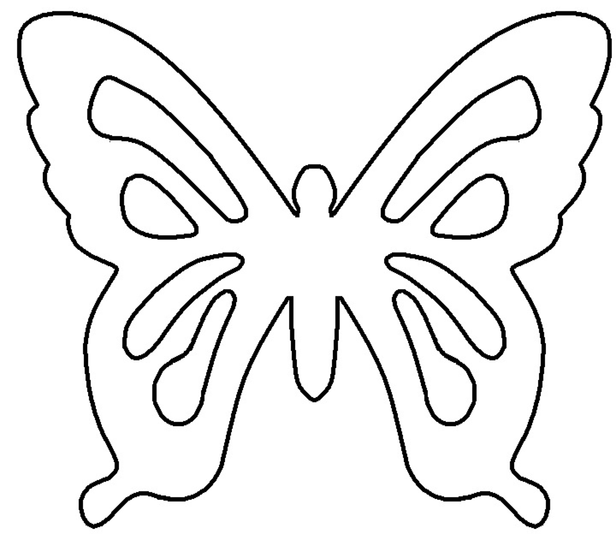 Patterns   My Heart Is A Flutter With Butterflies   Free Craft - Free Printable Butterfly Cutouts