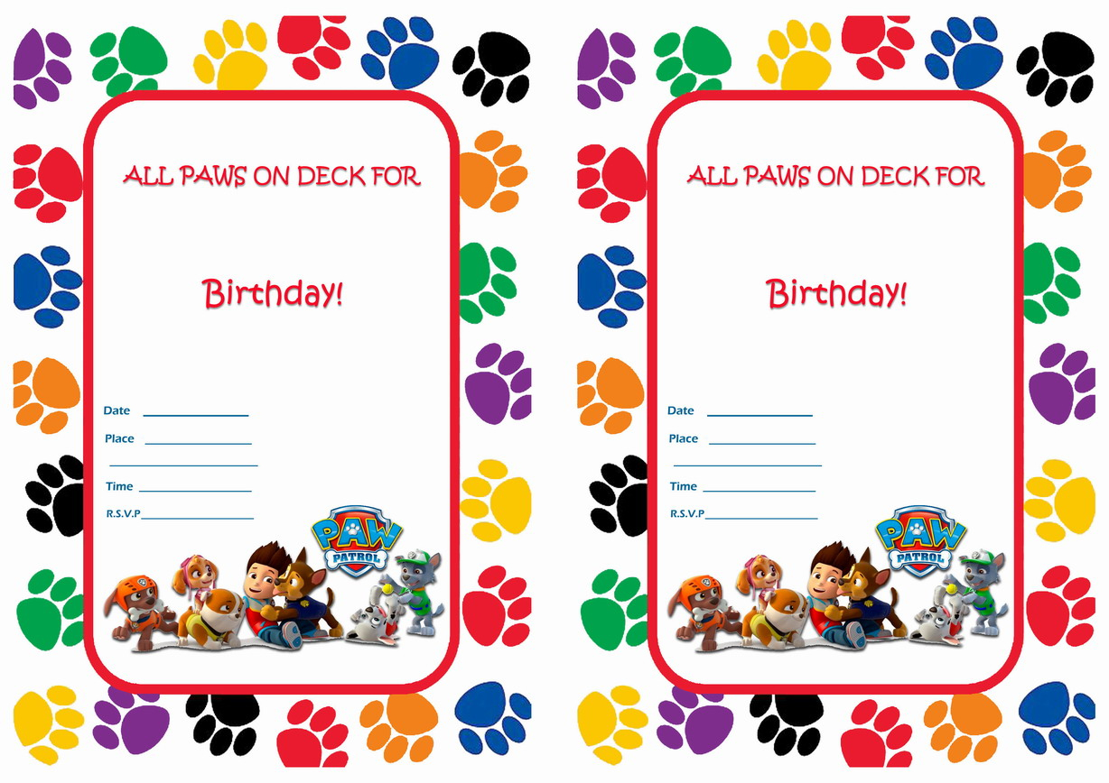 Paw Patrol Birthday Invitations | Birthday Printable - Free Printable Paw Patrol Invitations