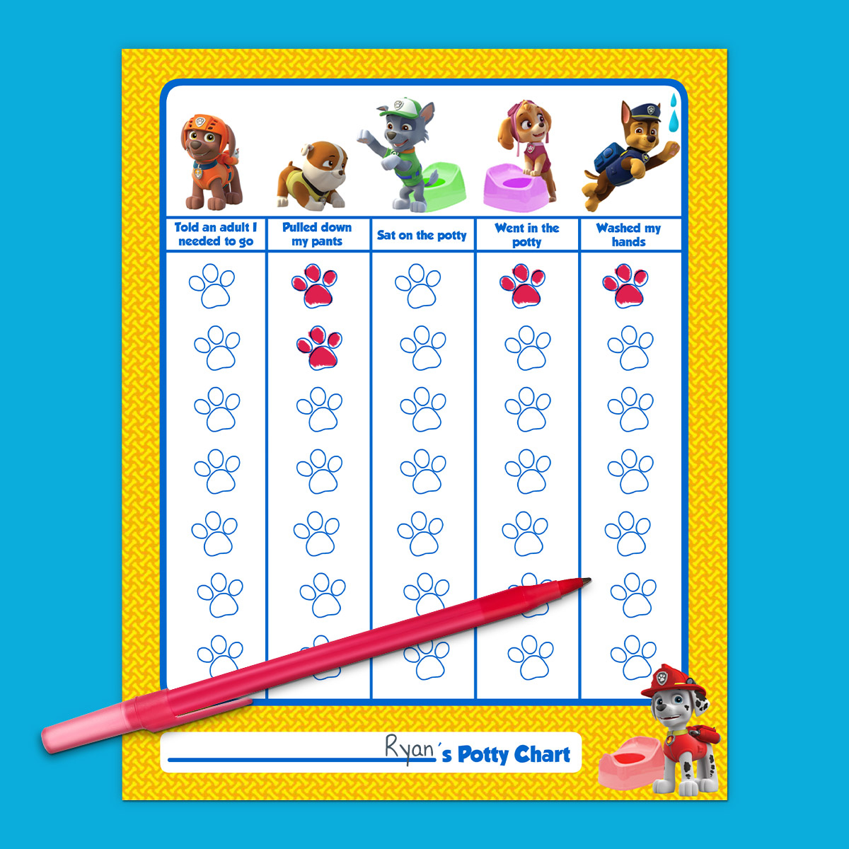 Paw Patrol Potty Training Chart   Nickelodeon Parents - Free Printable Potty Training Charts
