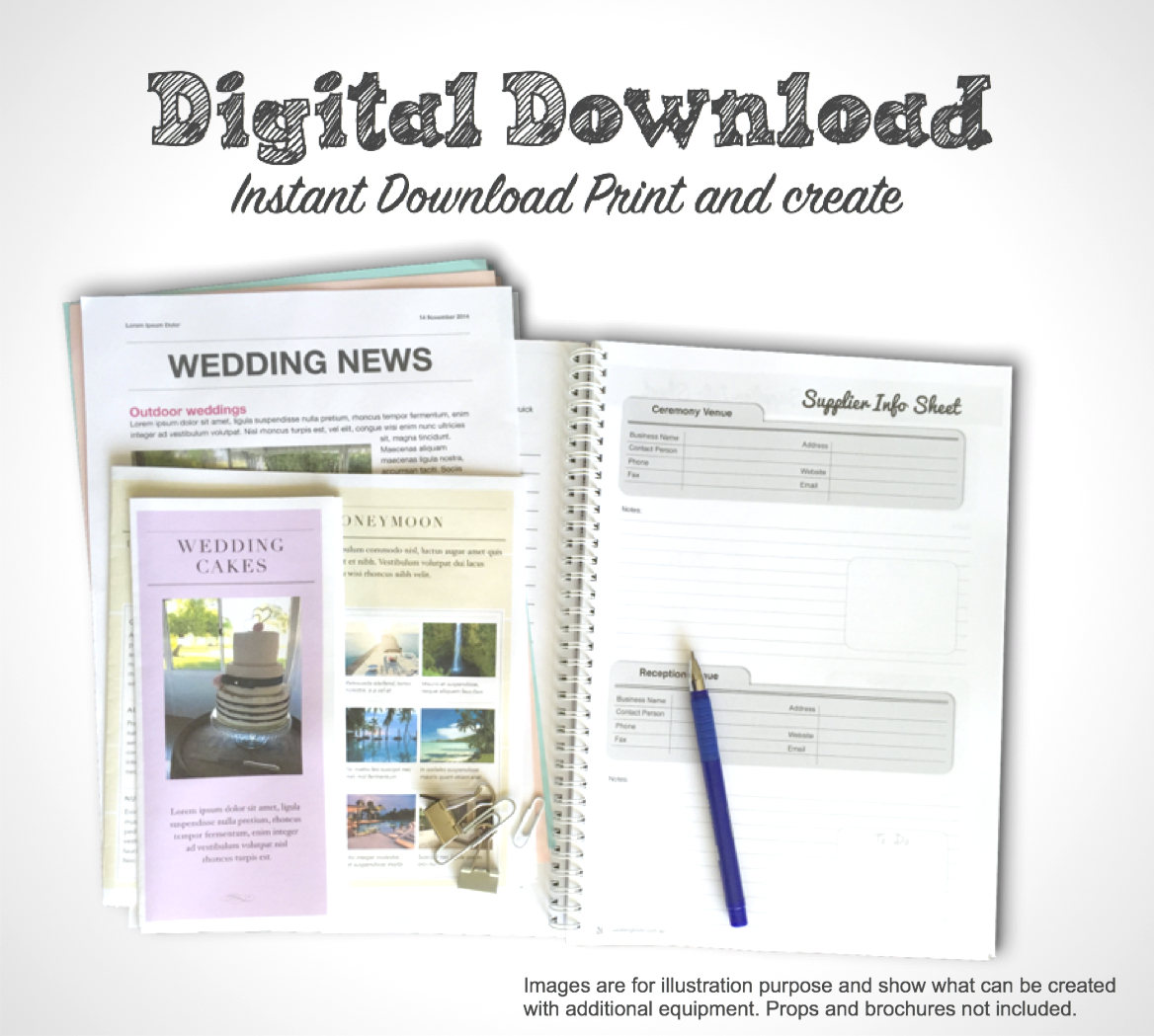 Pdf Printable Wedding Planner – Free Wedding Template - Free Printable Wedding Planner Book Pdf