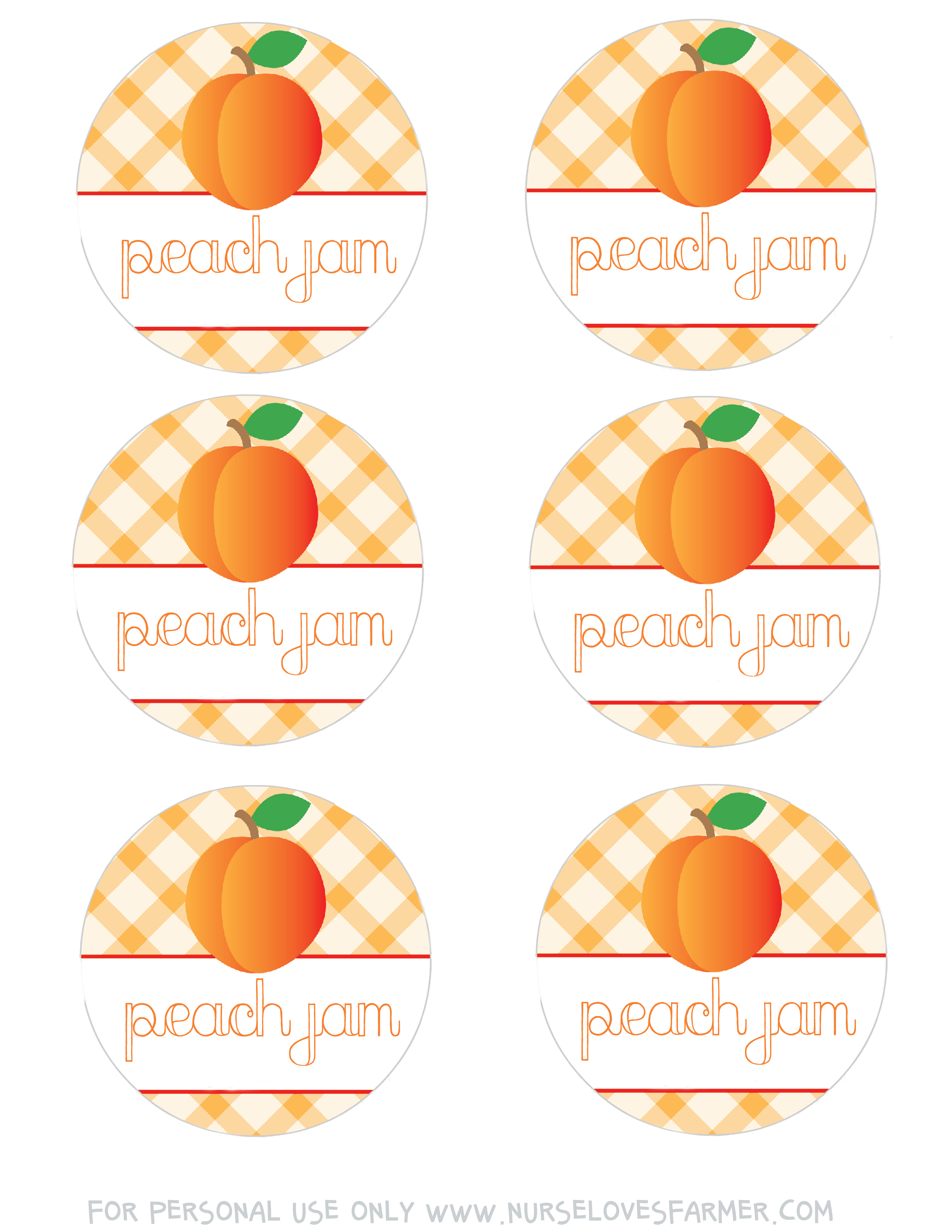 Peach Jam | Recipe | Printables | Canning Labels, Peach Jam, Jam Label - Free Printable Jam Labels