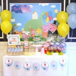 Peppa And George Pig Birthday Party – Part 1 /   Peppa Pig Birthday Banner Printable Free