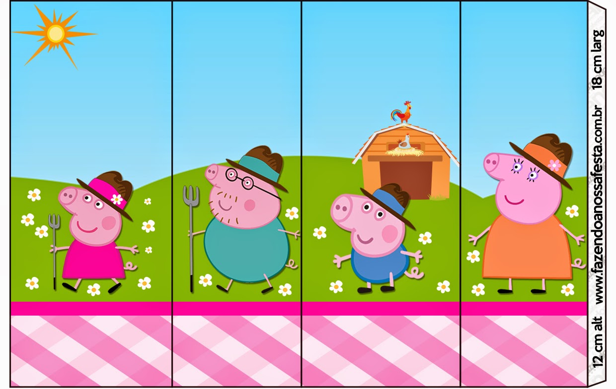 Peppa Pig At The Farm: Free Printable Candy Bar Labels. | Oh My - Peppa Pig Character Free Printable Images