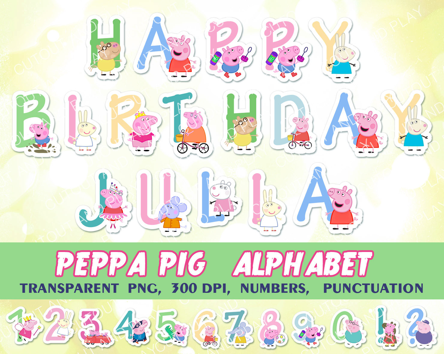 Peppa Pig Clipart Png Collection - Peppa Pig Birthday Banner Printable Free