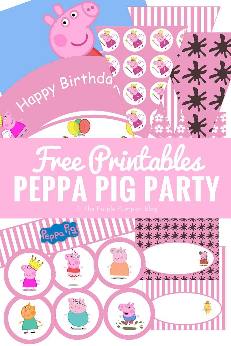Peppa Pig Party Printables + Fun Party Ideas | Party Time - Peppa Pig Birthday Banner Printable Free