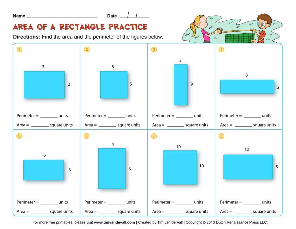 Perimeter Worksheets 3Rd Grade To Printable - Math Worksheet For Kids - Free Printable Perimeter Worksheets 3Rd Grade
