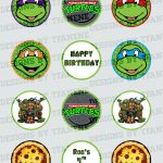 Personalized Teenage Mutant Ninja Turtles/tmnt Printable Cupcake – Free Printable Teenage Mutant Ninja Turtle Cupcake Toppers