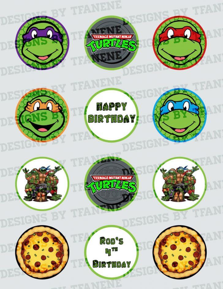 Free Printable Teenage Mutant Ninja Turtle Cupcake Toppers