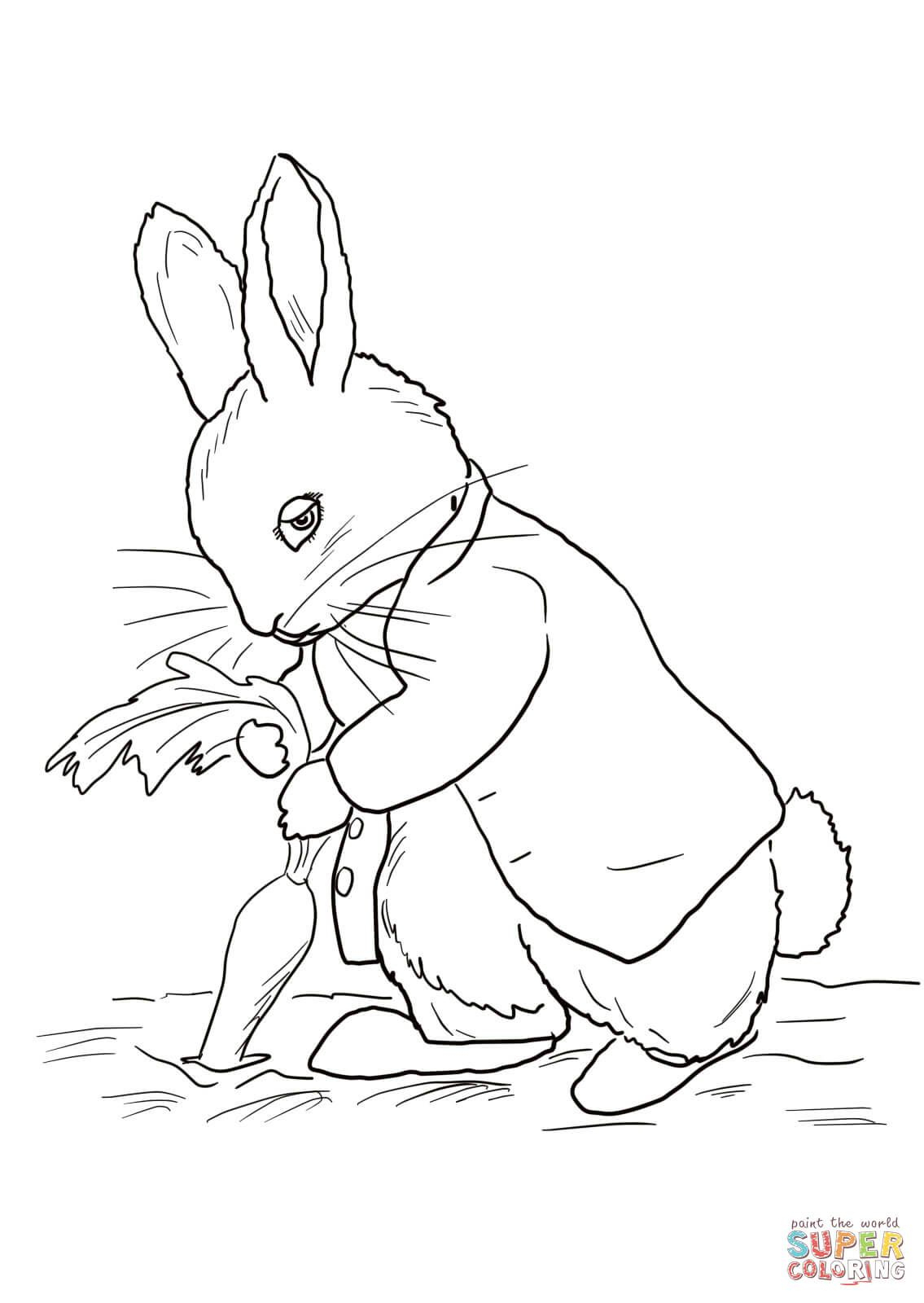 Peter Rabbit Coloring Pages - Coloringtop | Embroidery/ Animals - Free Printable Peter Rabbit Coloring Pages