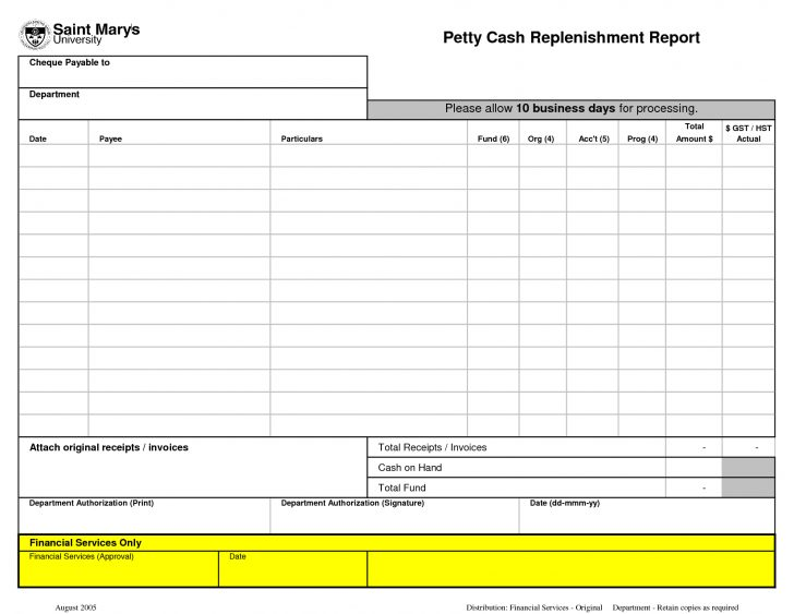 Free Printable Petty Cash Voucher