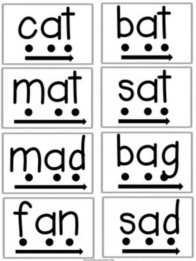 Phonics Blending Word Cards For Rti Includes Digital File | Tpt - Free Printable Blending Cards