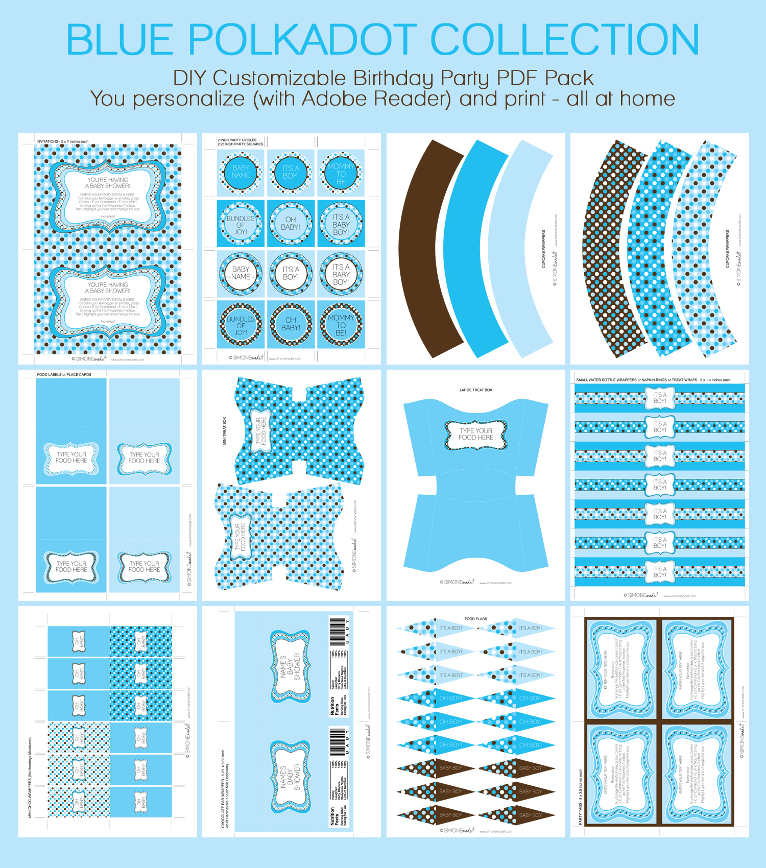 Photo : Boy Baby Shower Invitation Image - Free Printable Baby Shower Decorations For A Boy