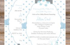 Photo : Elephant Themed Baby Shower Invitation Image – Free Printable Elephant Baby Shower