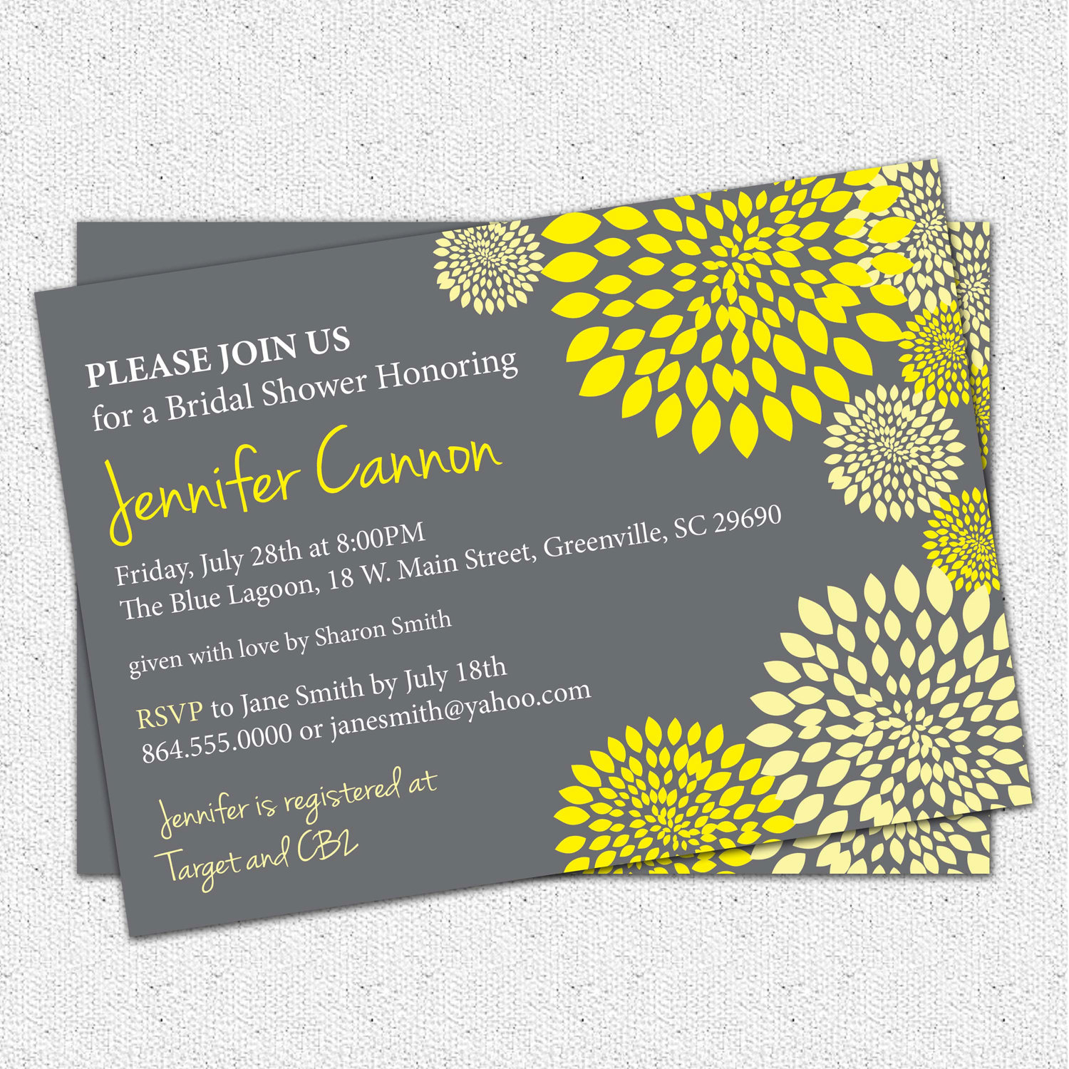 Photo : Free Printable Bridal Shower Image - Free Printable Black And White Baby Shower Invitations