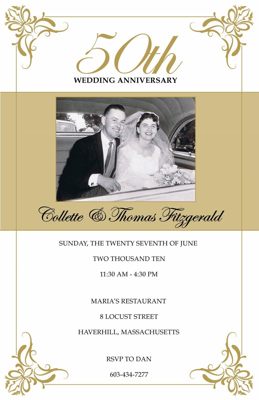 Photo Gallery Of The 50Th Wedding Anniversary Party Ideas To - Free Printable 60Th Wedding Anniversary Invitations