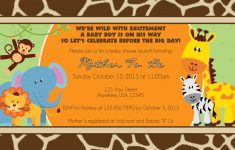 Photo : Jungle Baby Shower Invitations Image – Free Printable Jungle Safari Baby Shower Invitations