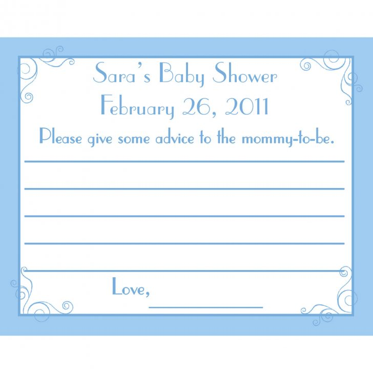 Free Mommy Advice Cards Printable