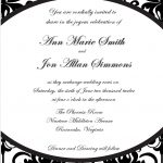 Photo : Printable Bridal Shower Invitation Image   Free Printable Black And White Baby Shower Invitations