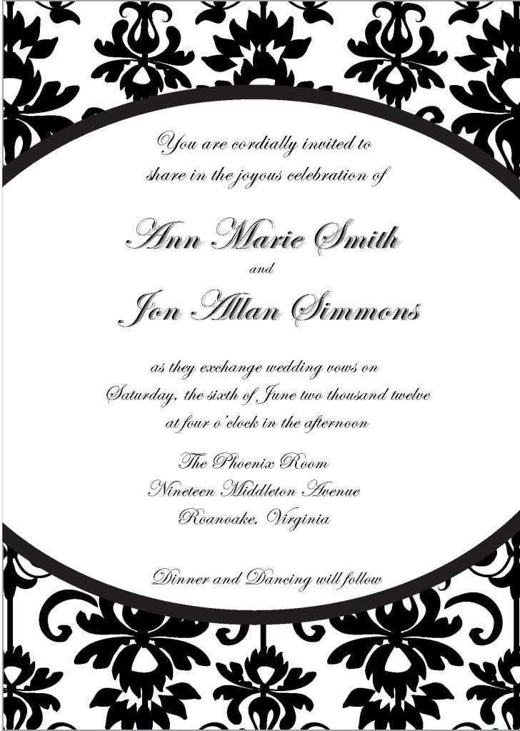 Free Printable Black And White Baby Shower Invitations
