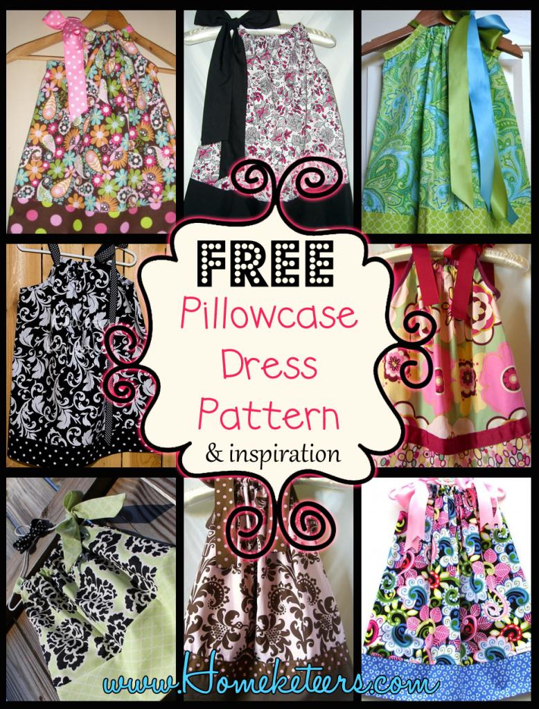Pillowcase Dresses – Inspirations And Patterns   Children - Free Printable Pillowcase Dress Pattern