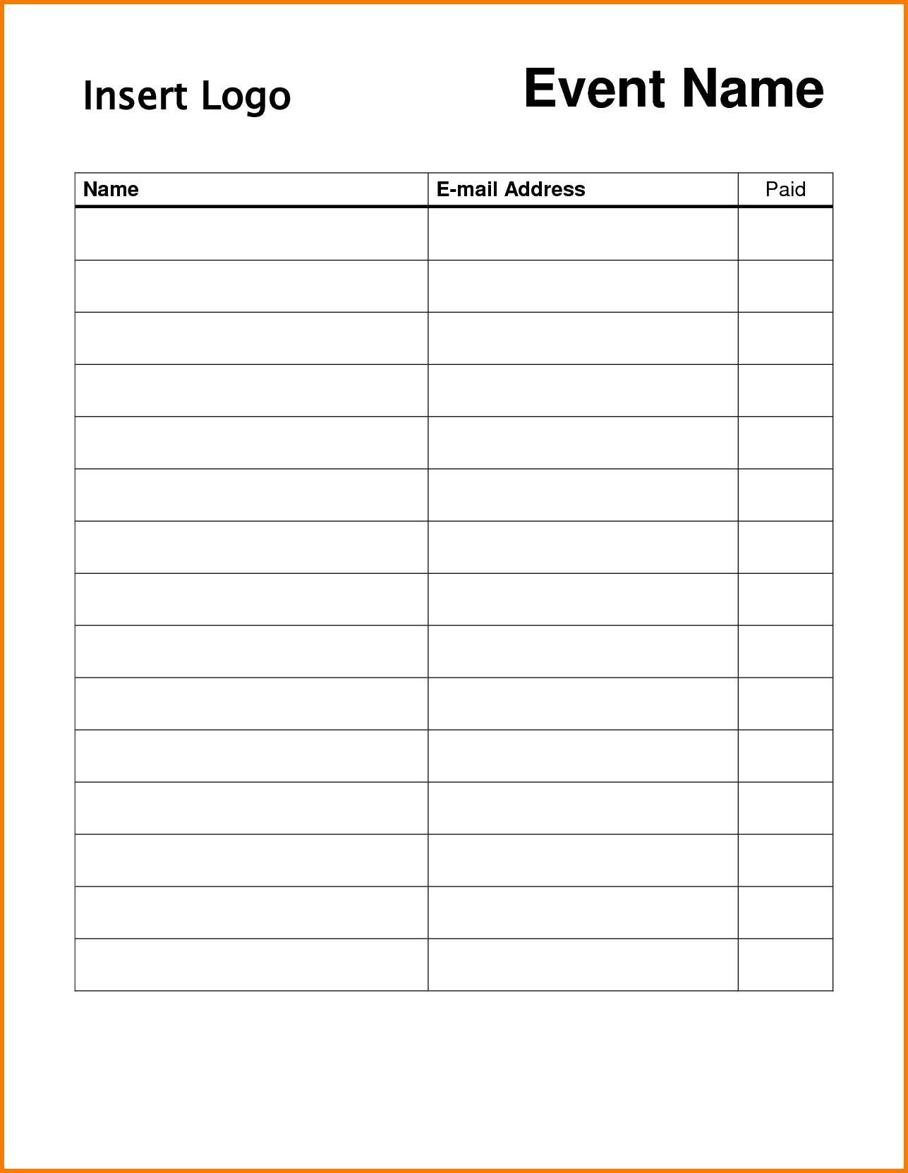 Pin On Dojo Marketing Ideas - Free Printable Sign In Sheet Template