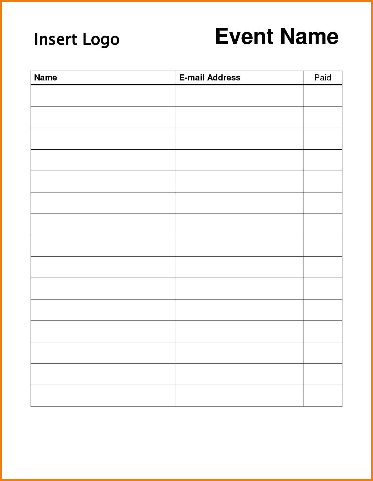 Pin On Dojo Marketing Ideas - Free Printable Sign In Sheet