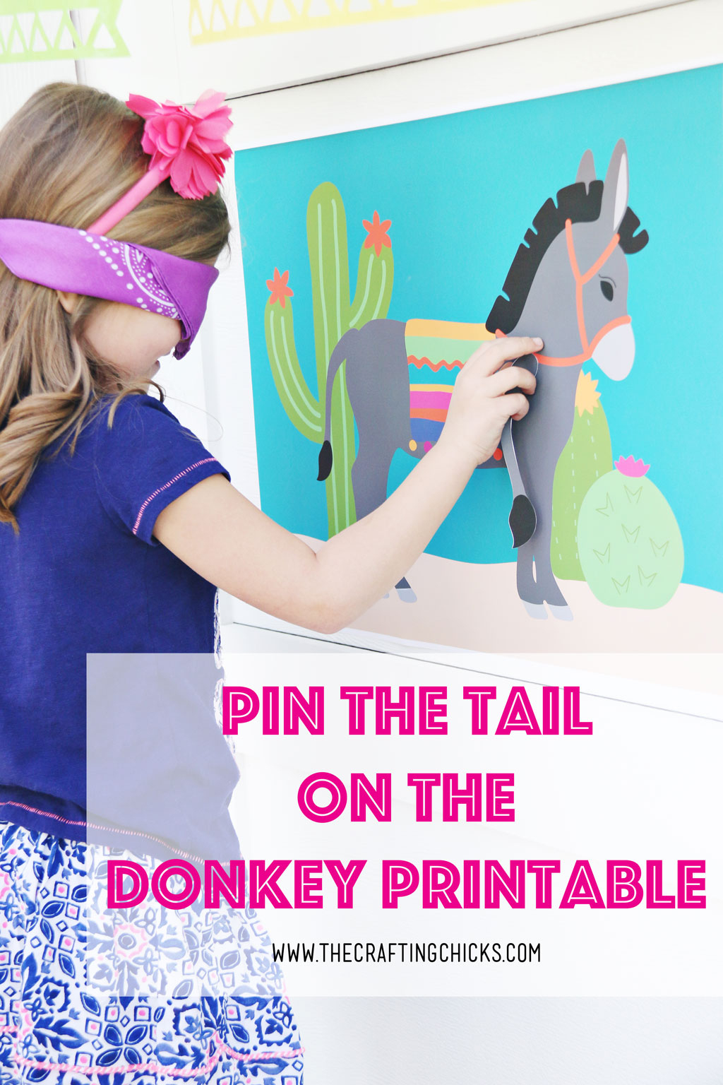 Pin The Tail On The Donkey - The Crafting Chicks - Pin The Tail On The Donkey Printable Free
