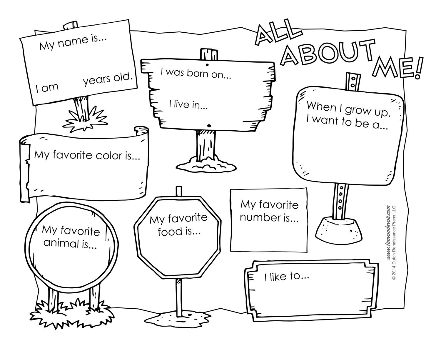 Pinaaron Addis On Classroom | Pinterest | All About Me Worksheet - All About Me Free Printable