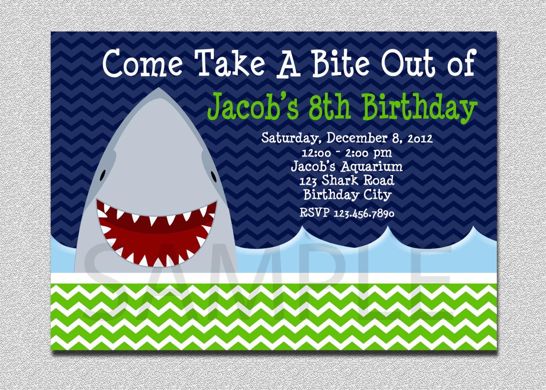 Pinanggunstore On Invitationswww.egreeting-Ecards - Shark Invitations Free Printable