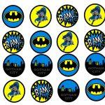 Pincindy Warner On Bottle Cap Images In 2019 | Batman Birthday   Batman Cupcake Toppers Free Printable