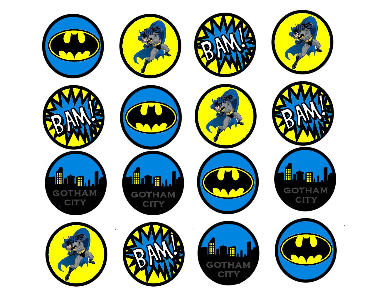 Pincindy Warner On Bottle Cap Images In 2019 | Batman Birthday - Batman Cupcake Toppers Free Printable