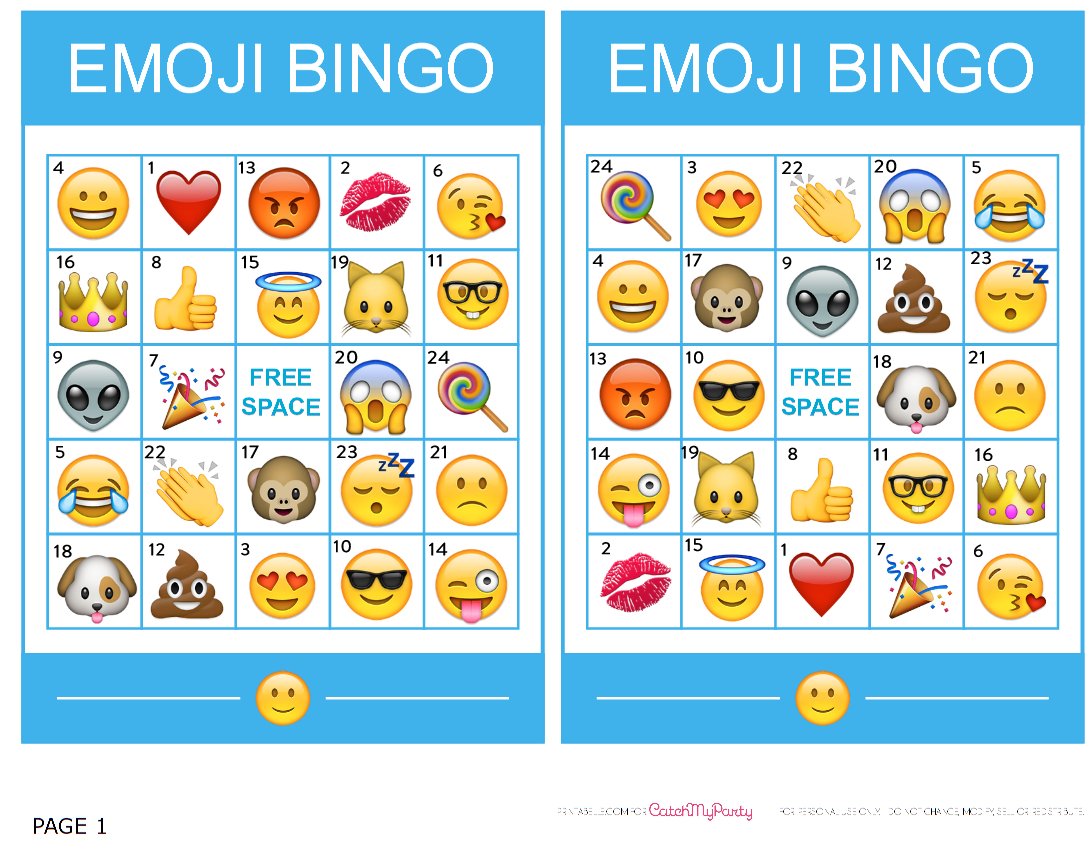 Pincrafty Annabelle On Emoji Printables | Emoji Bingo, Emoji - Free Emoji Bingo Printable