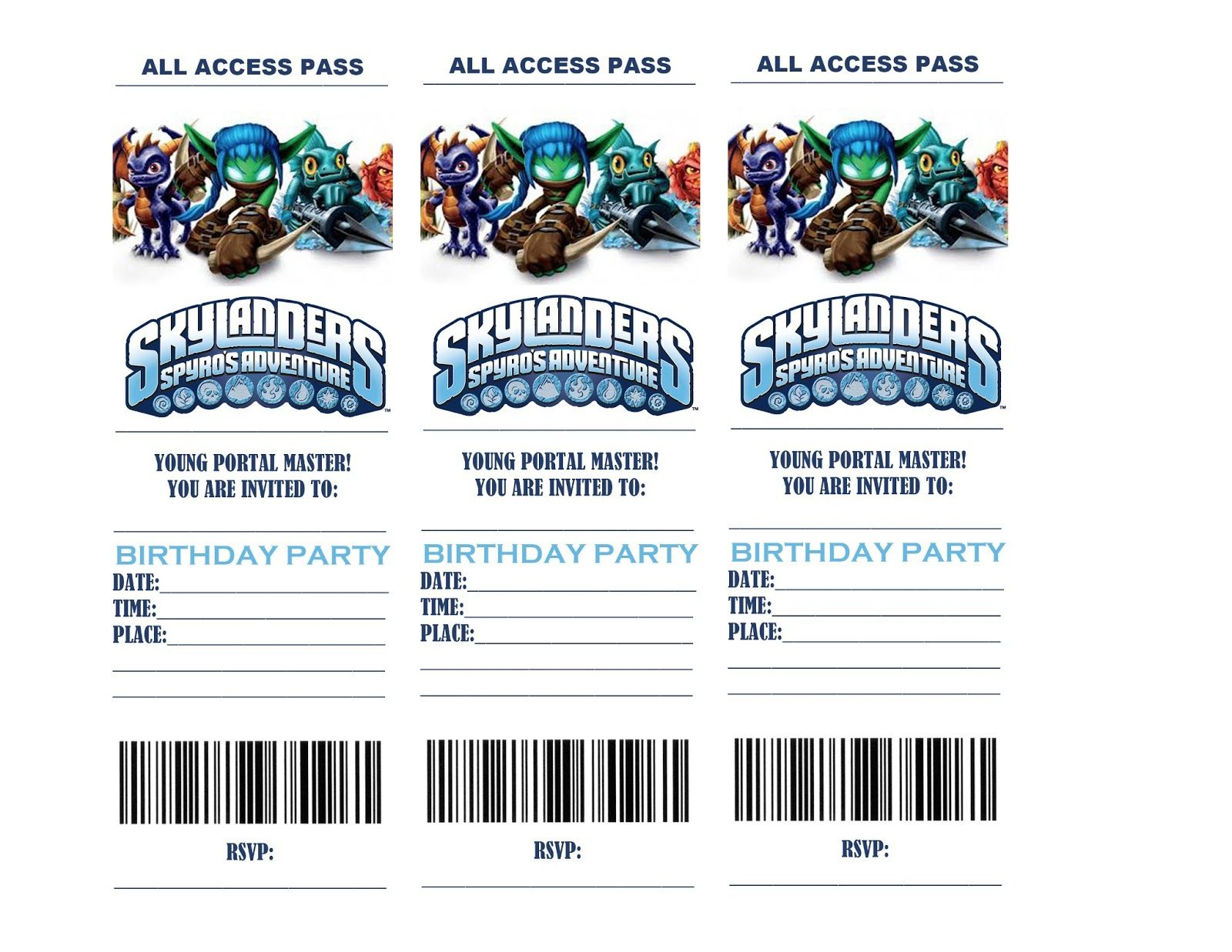 Pincrafty Annabelle On Skylanders Printables | Pinterest - Free Printable Skylander Invitations