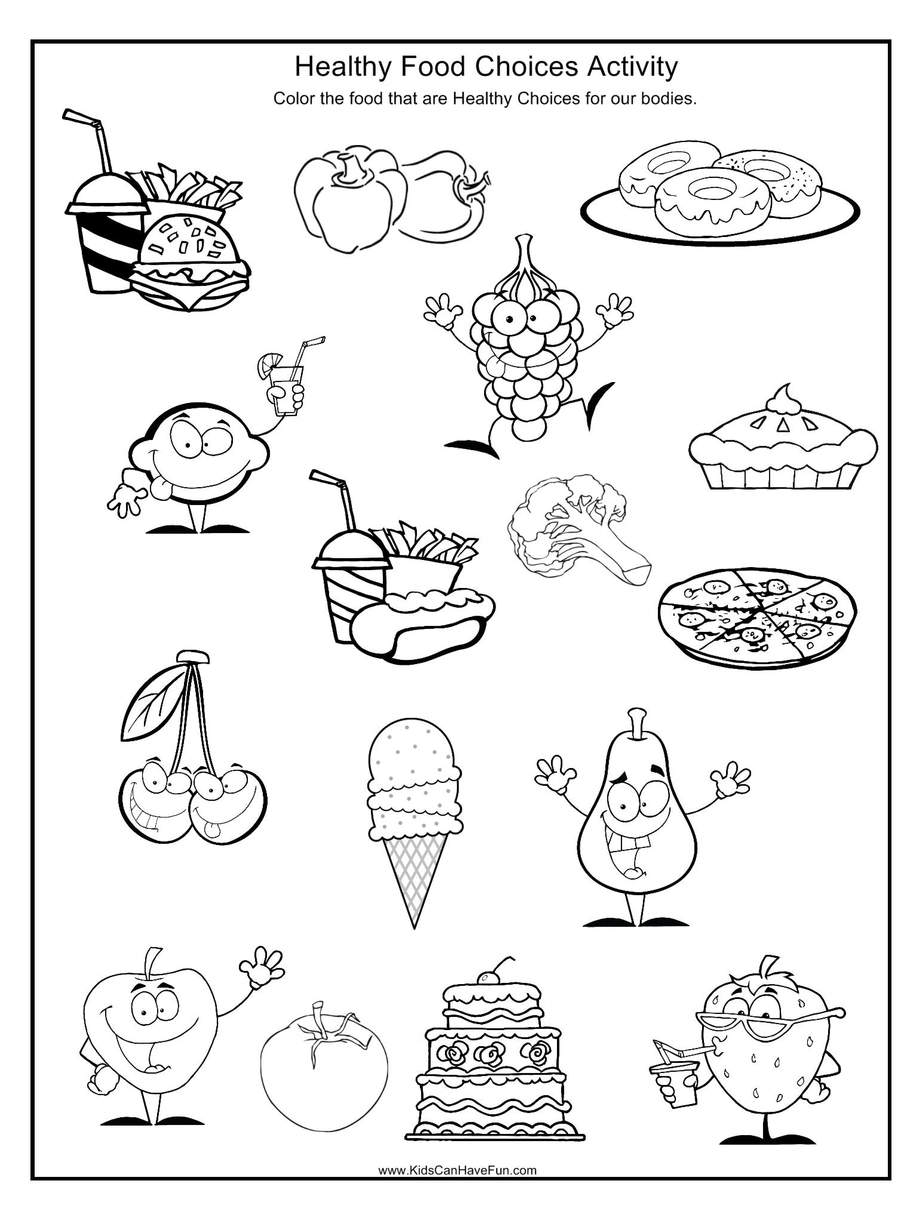 Pindebbie Yoho On Coloring Sheets | Pinterest | Healthy And - Free Printable Healthy Eating Worksheets