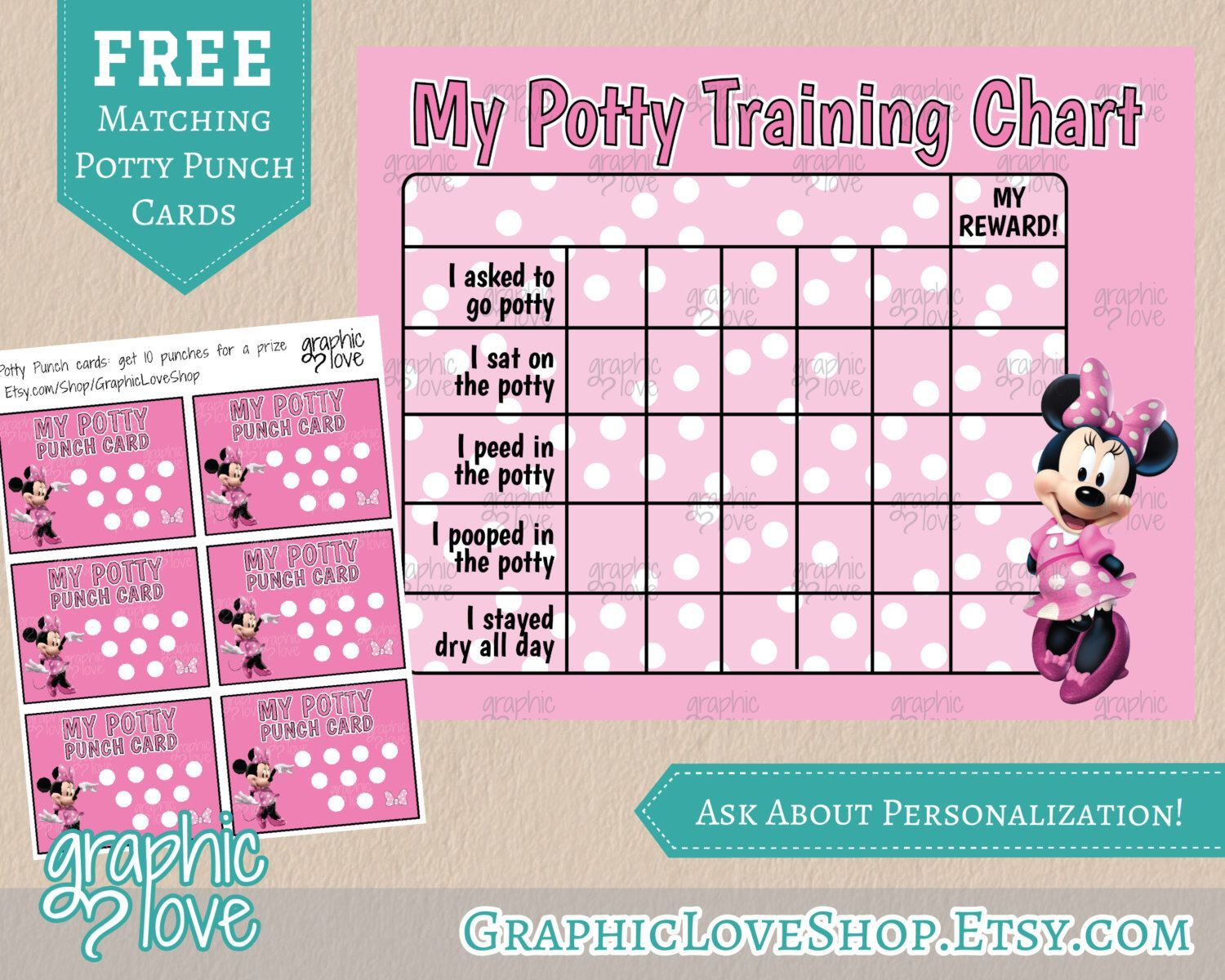 Pindiane Dyess On Potty Training | Potty Training Girls, Potty - Free Printable Minnie Mouse Potty Training Chart